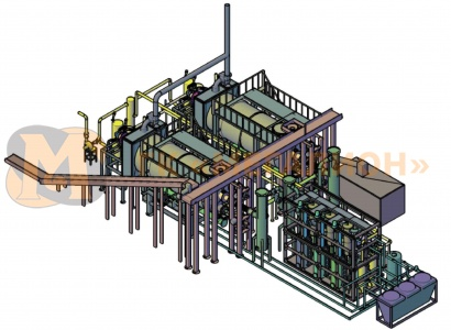 Pyrolysis unit for waste recycling - схема 1